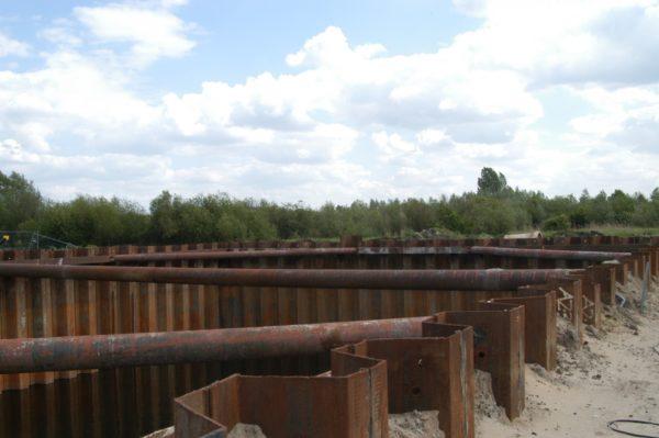 Aarle-Rixtel - Damwandkuip gestempeld