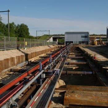 Hilversum - Damwandkuip langs spoor