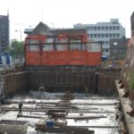 Breda - Damwandkuip verankerd