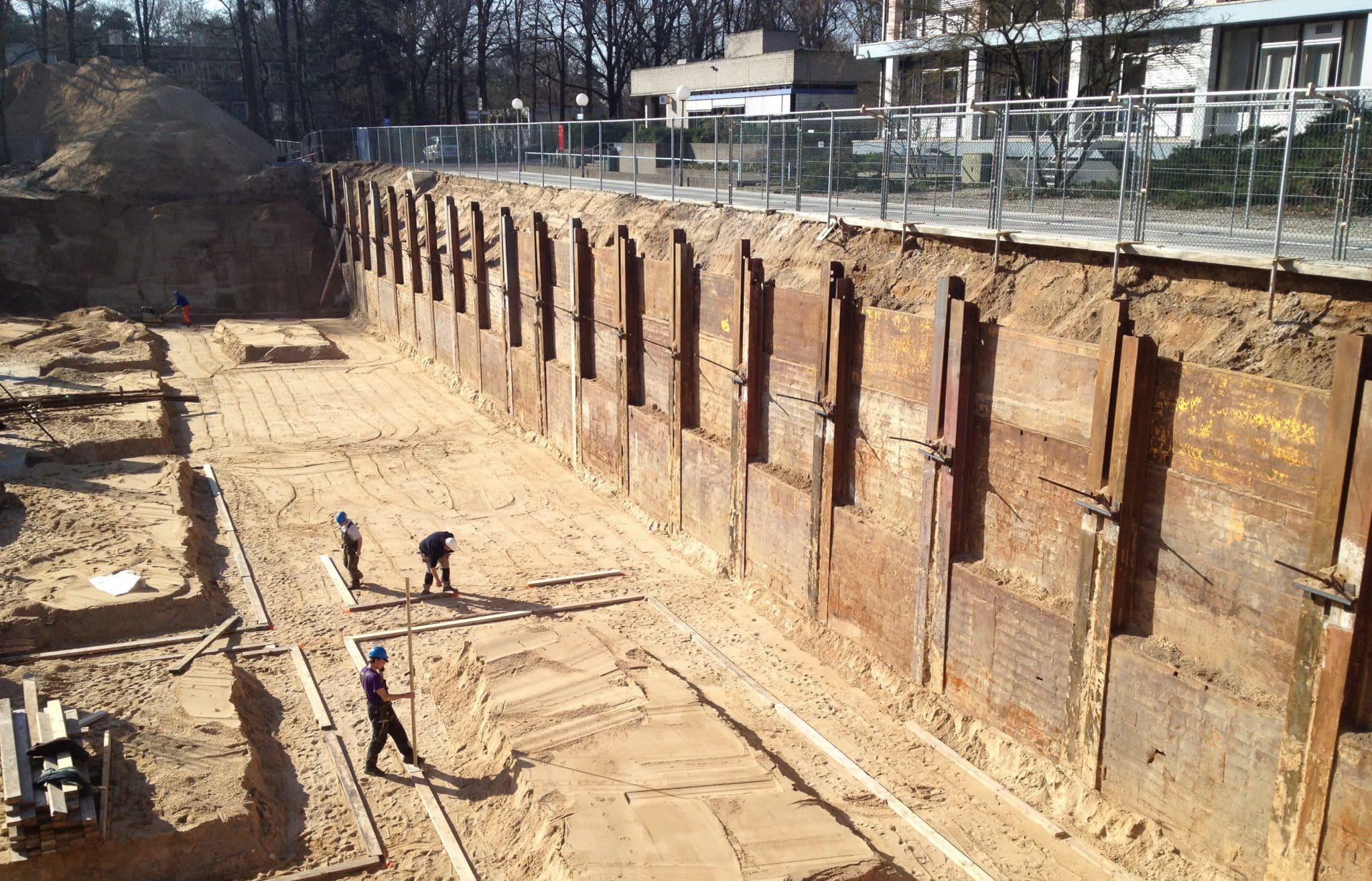 Berlinerwand met Krings SBH Verbauplatten en ankers